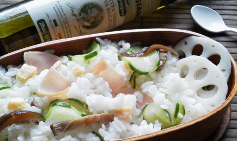 簡単健康サラダご飯1