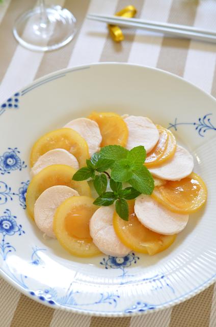 鶏ハムとレモンジンジャーの簡単オードブル2