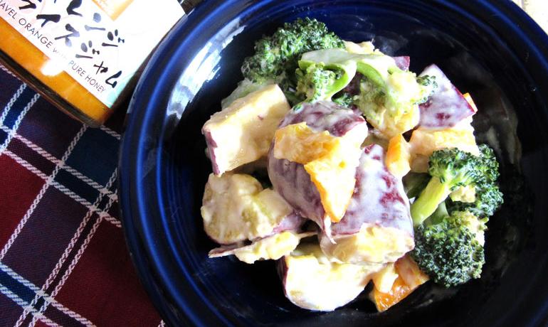 オレスラジャムとさつま芋のヨーグルトマヨサラダ
