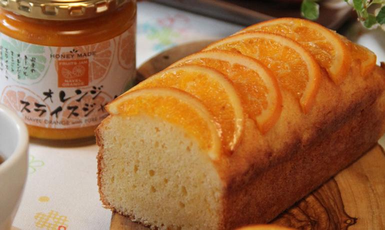 オレスラジャムのパウンドケーキ
