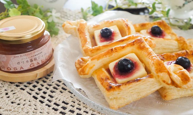 薔薇ジャムとクリームチーズのデニッシュペストリー
