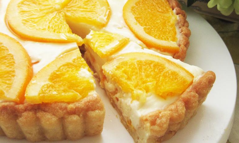 オレスラジャムの濃厚レアチーズケーキ