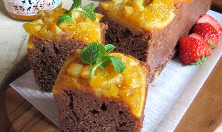 オレスラジャムのココアパウンドケーキ