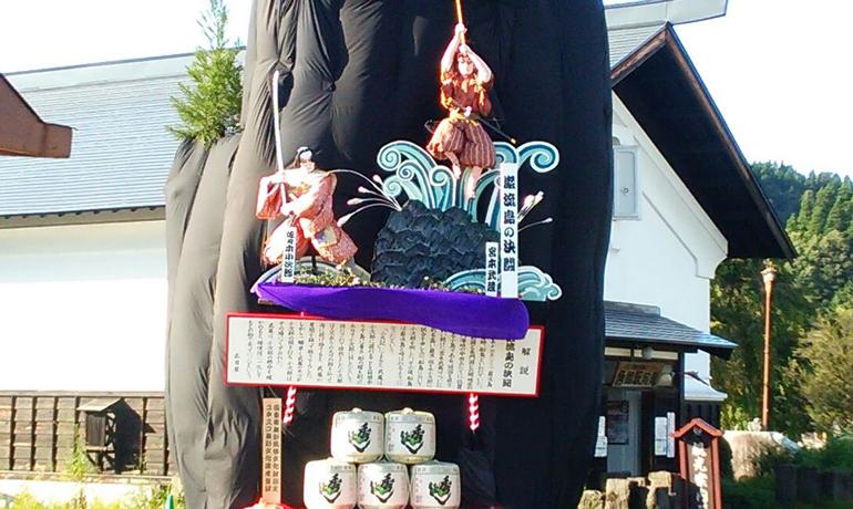 迫力ある曳山祭り「角館祭りのやま行事」