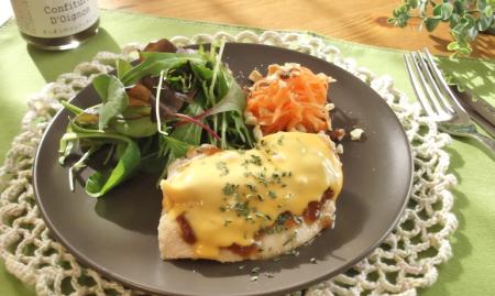 オニコン&チーズのチキンソテー