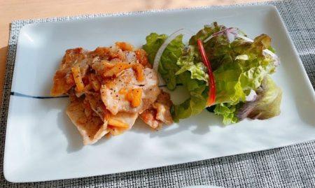 豚ロースのオレンジ生姜焼き
