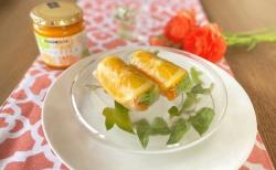 オレンジスライスジャムとサクサク野菜の生春巻き