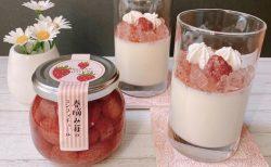 春摘み苺コンフィチュールゼリーのせムース
